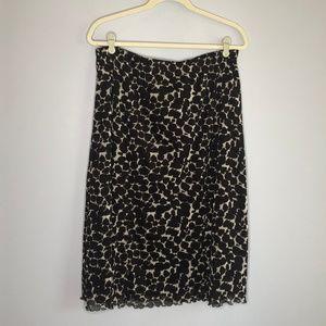 BCBGMAXAZRIA Brown Print Skirt XL